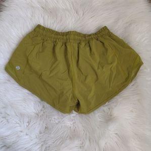 Lululemon mustard color shorts
